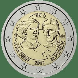 Moneda Conmemorativa de 2 Euros de Bélgica 2011 - Centenario del Día Internacional de la Mujer