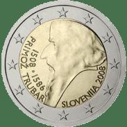 Moneda Conmemorativa de 2 Euros de Eslovenia 2008 - Quinto Centenario del Nacimiento de Primoz Trubar