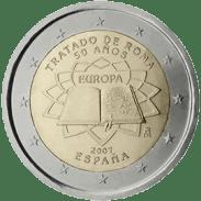 Moneda Conmemorativa de 2 Euros de España 2007 - Conmemorativa Común por el 50 Aniversario del Tratado de Roma