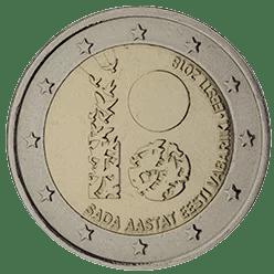 Moneda Conmemorativa de 2 Euros de Estonia 2018 - Centenario de la República de Estonia