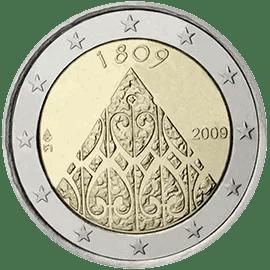 Moneda Conmemorativa de 2 Euros de Finlandia 2009 - Bicentenario de la Autonomía de Finlandia y de la Dieta de Porvoo
