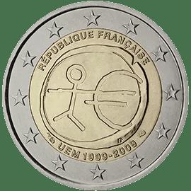 Moneda Conmemorativa de 2 Euros de Francia 2009 - Conmemorativa Común por el 10 Aniversario de la Unión Económica y Monetaria