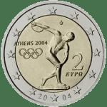 Moneda Conmemorativa de 2 Euros de Grecia 2004 - Juegos Olímpicos de Atenas 2004