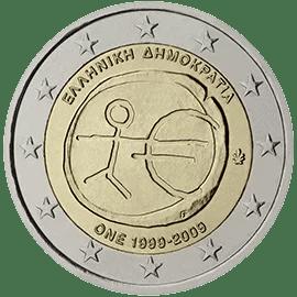 Moneda Conmemorativa de 2 Euros de Grecia 2009 - Conmemorativa Común por el 10 Aniversario de la Unión Económica y Monetaria