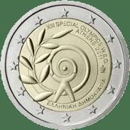 Moneda Conmemorativa de 2 Euros de Grecia 2011 - Juegos Mundiales de Verano de Olimpiadas Especiales de Atenas 2011