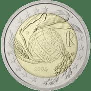 Moneda Conmemorativa de 2 Euros de Italia 2004 - Quinta Década del Programa Mundial de Alimentos del Programa Mundial de Alimentos