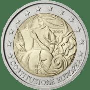 Moneda Conmemorativa de 2 Euros de Italia 2005 - 1er Aniversario de la Firma de la Constitución Europea