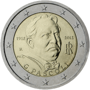 Moneda Conmemorativa de 2 Euros de Italia 2012 - Centenario de la Muerte de Giovanni Pascoli