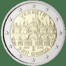 Moneda Conmemorativa de 2 Euros de Italia 2017 - 400 Años de la Finalización de la Basílica de San Marcos en Venecia