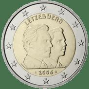 Moneda Conmemorativa de 2 Euros de Luxemburgo 2006 - 25 Cumpleaños del Gran Duque Guillaume