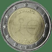 Moneda Conmemorativa de 2 Euros de Luxemburgo 2009 - Conmemorativa Común por el 10 Aniversario de la Unión Económica y Monetaria