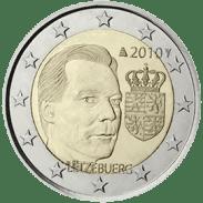 Moneda Conmemorativa de 2 Euros de Luxemburgo 2010 - Escudo de Armas del Gran Duque Henri