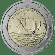 Moneda Conmemorativa de 2 Euros de Portugal 2011 - Quinto Centenario del Nacimiento de Fernão Mendes Pinto