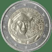 Moneda Conmemorativa de 2 Euros de San Marino 2006 - Quinto Centenario de la Muerte de Cristóbal Colón