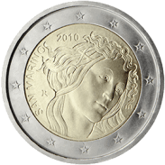 Moneda Conmemorativa de 2 Euros de San Marino 2010 - Quinto Aniversario de la Muerte de Sandro Botticelli