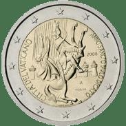 Moneda Conmemorativa de 2 Euros del Vaticano 2008 - 2000 Años del Nacimiento del Apóstol San Pablo
