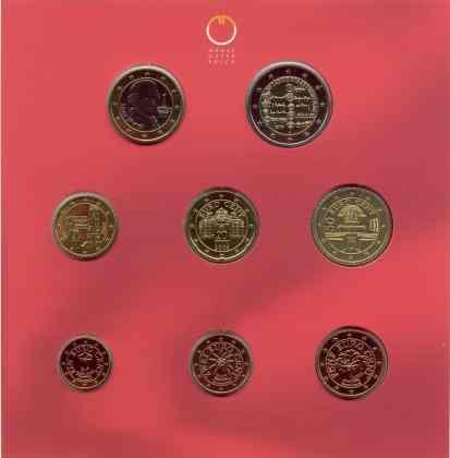 Cartera Anual Austria 2005 2 Euros Conmemorativos - Tratado del Estado