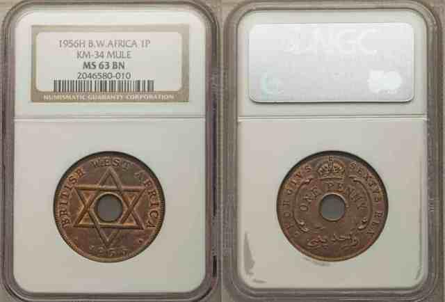 1 Penny British West Africa, Jorge VI en vez de Isabel II