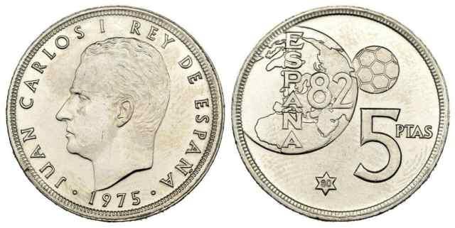 5 pesetas 1975 *80, Error del Mundial