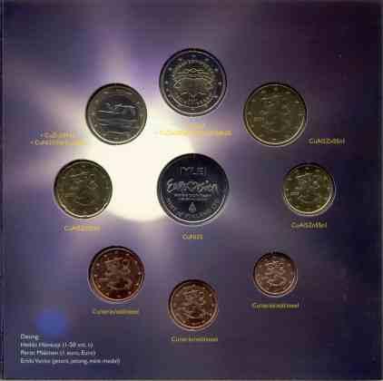 Cartera Anual Finlandia 2007 2 Euros Conmemorativos - Tratado de Roma