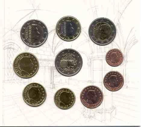 Cartera Anual Luxemburgo 2007 2 Euros Conmemorativos Palacio Gran Ducal y Tratado de Roma