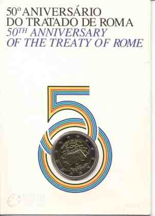 Coincard Portugal 2007 2 Euros Conmemorativos Tratado de Roma