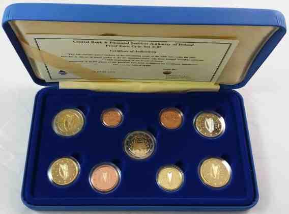 Estuche Proof Irlanda 2007 2 Euros Conmemorativos Tratado de Roma