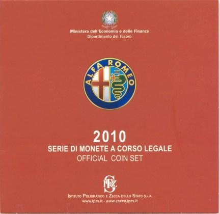 Cartera Alfa Romeo Italia 2010 2 Euros Conmemorativos Cavour