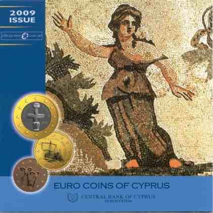 Cartera Anual Chipre 2009 2 Euros Conmemorativos - 10 Años de la UEM
