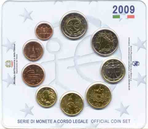 Cartera Anual Italia 2009 2 Euros Conmemorativos UEM