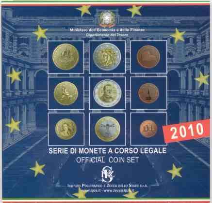 Cartera Anual Italia 2010 2 Euros Conmemorativos Cavour