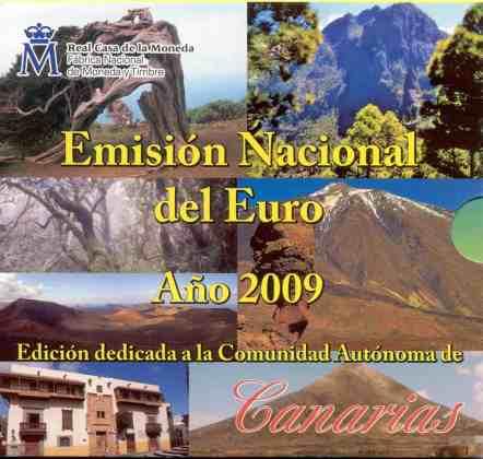 Cartera Canarias España 2009 2 Euros Conmemorativos UEM