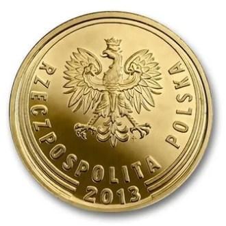 Polonia, 1 Grosz Serie 2014, Anverso