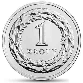 Polonia, 1 Zloty Series 2017-2020, Reverso