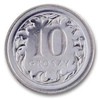 Polonia, 10 Groszy Serie 1995, Anverso (1)