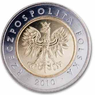 Polonia, 5 Zlotych Serie 1995, Anverso