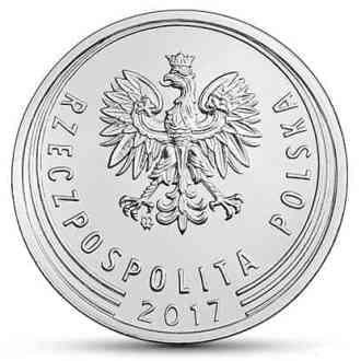 Polonia, 50 Groszy Series 2017-2020, Anverso