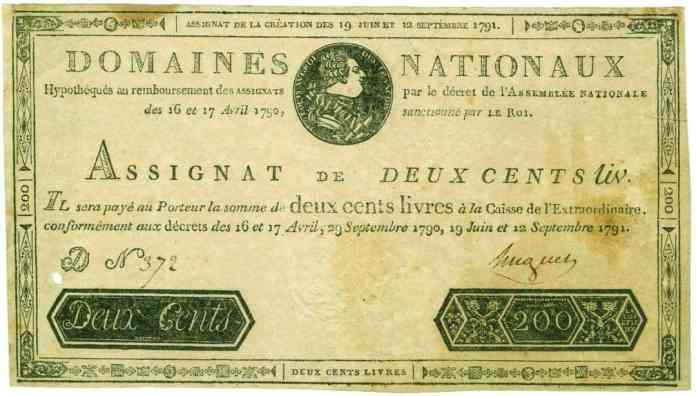 Assignat Septiembre de 1791