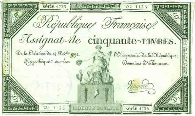 Assignat de 14 de diciembre de 1792