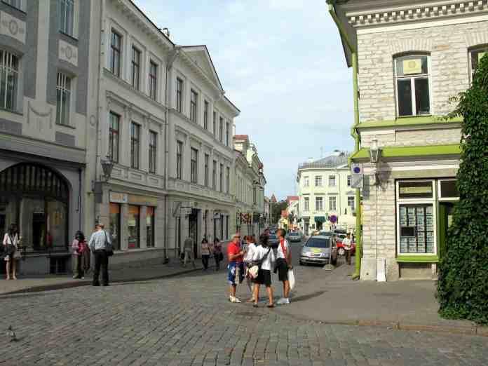 Calle Vene Viru en Tallinn