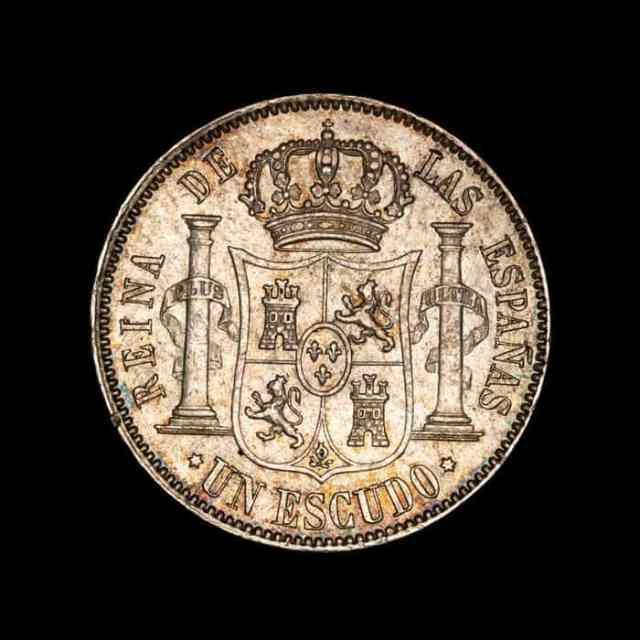 1 Escudo Isabel II 1867 Anverso