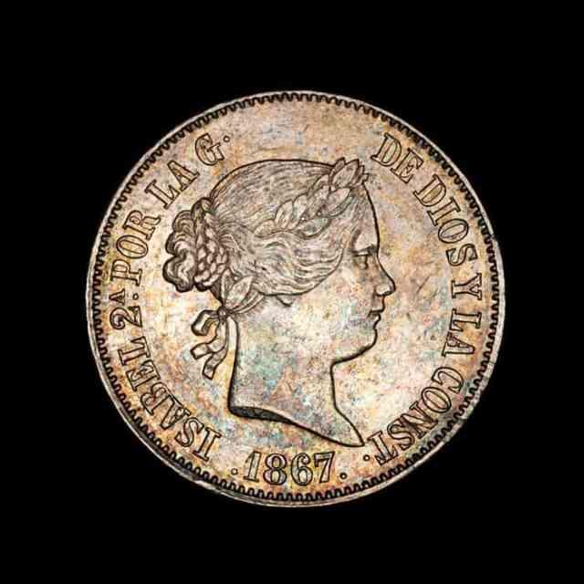 1 Escudo Isabel II 1867 Reverso
