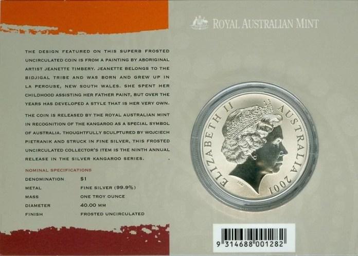 Coincard Silver Kangaroo 2001