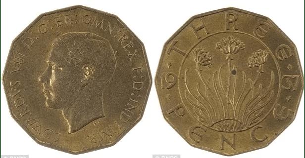 Threepence 1937 Edward VIII