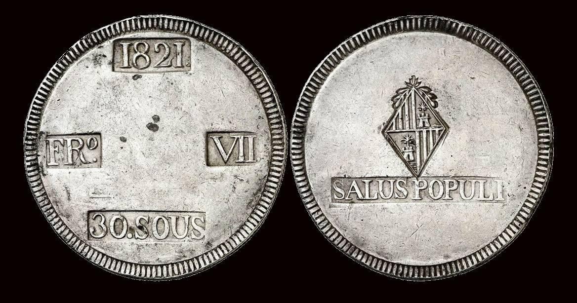 30 SOUS DE 1821: UNA MONEDA PARA UNA EPIDEMIA 30-sous-de-1821-MBC