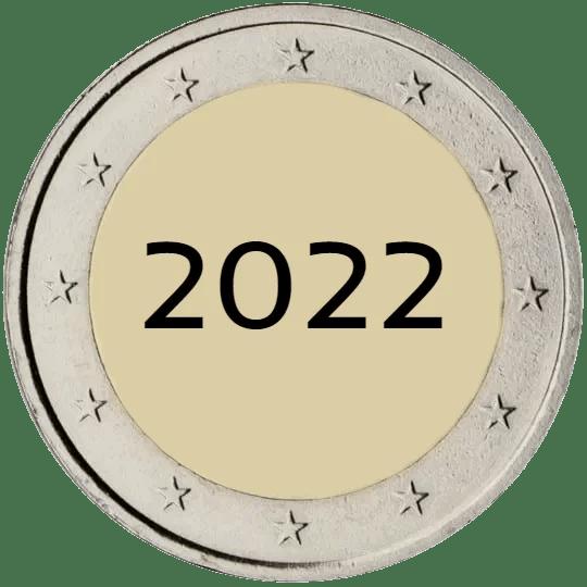 Lista de Monedas Conmemorativas de 2 Euros de 2022