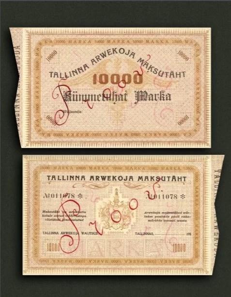 Foto Billetes de Estonia