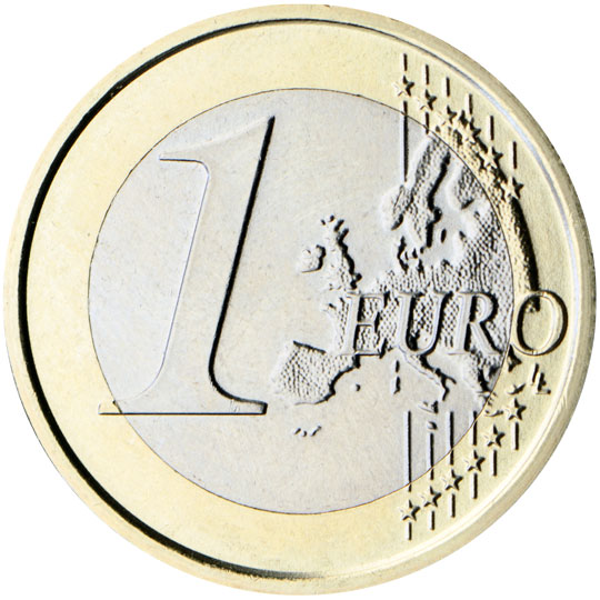 1 Euro Cara Común Mapa Nuevo