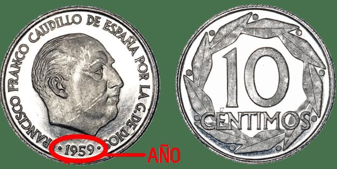 10 Céntimos 1959