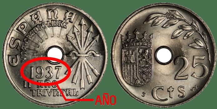 25 Céntimos 1937